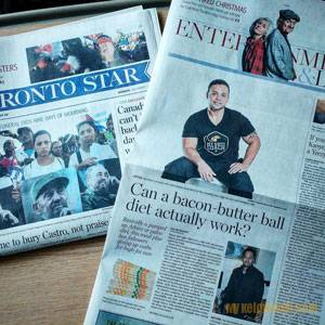 Toronto Star newspaper feature keto diet with Raj Patel keto coach