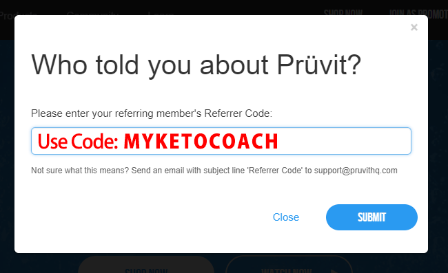 Pruvit coupon code