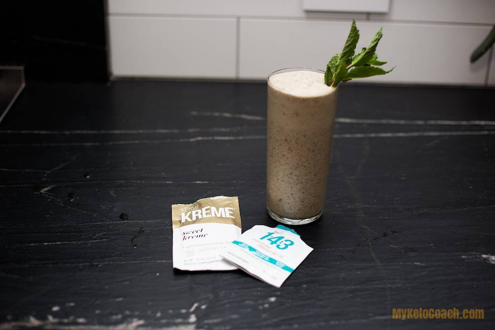 Mint Chocolate Fat Bomb Shake