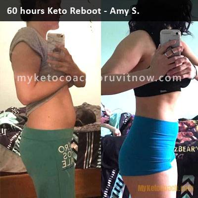 Keto Reboot Results Amy S. - Before and After