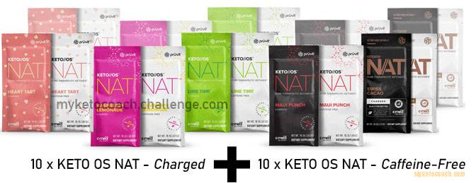 products included in the 10 day drink ketones challenge