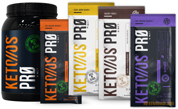 Keto OS PRO Pruvit | Ketogenic Protein Powder | Chocolate, Banana, Orange Dream