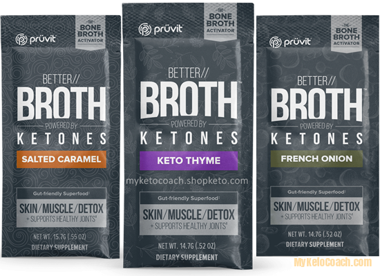 Pruvit BETTER Bone Broth Packets with Ketones
