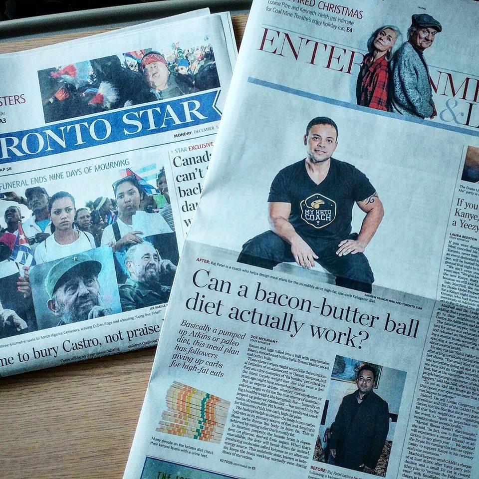 Raj Patel - Toronto Star News Cover Story - Ketogenic Diet