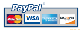 Accepted payments types: Paypal, All Major Credit cards, Debit card.