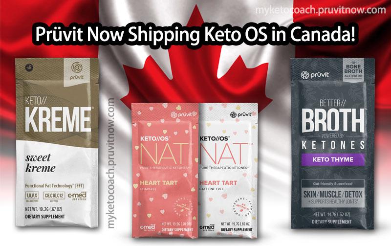 Pruvit Canada & Keto OS NAT Ketones in Canada