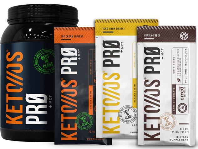 Keto OS PRO Pruvit | Ketogenic Protein Powder | Chocolate, Banana, Orange Dream