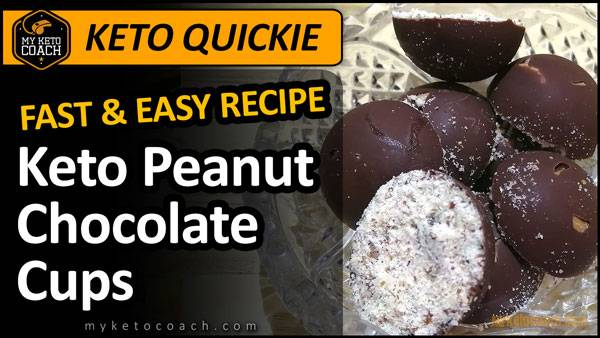 Keto Quickie | Easy Keto Peanut Chocolate Fat Bomb Cups Recipe