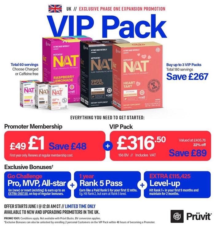 Exclusive - Pruvit UK Promoter Distributor Pack
