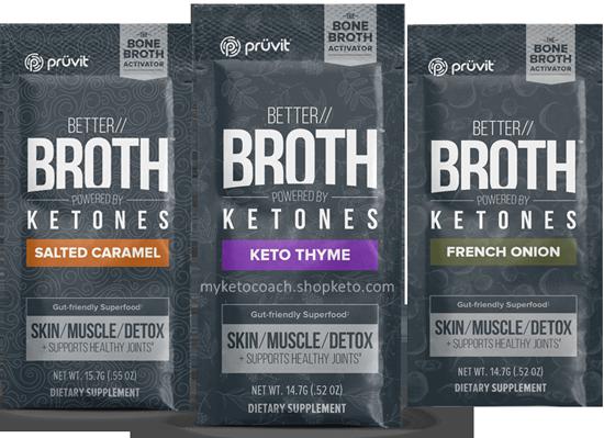 Pruvit BETTER Bone Broth Packets with Ketones