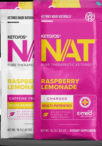 Pruvit Keto OS NAT Raspberry Lemonade Ketones Drink