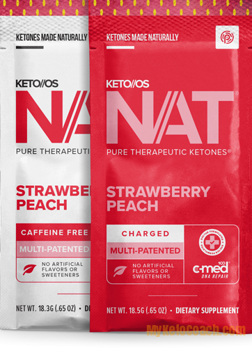 Keto OS NAT Strawberry Peach Flavor Ketones